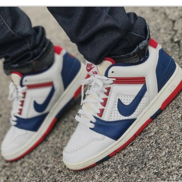 Nike SB Air Force 2 Low WhiteBlueRed Available: SNKRS